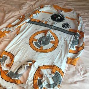 BB8 Star Wars onesie pajamas M